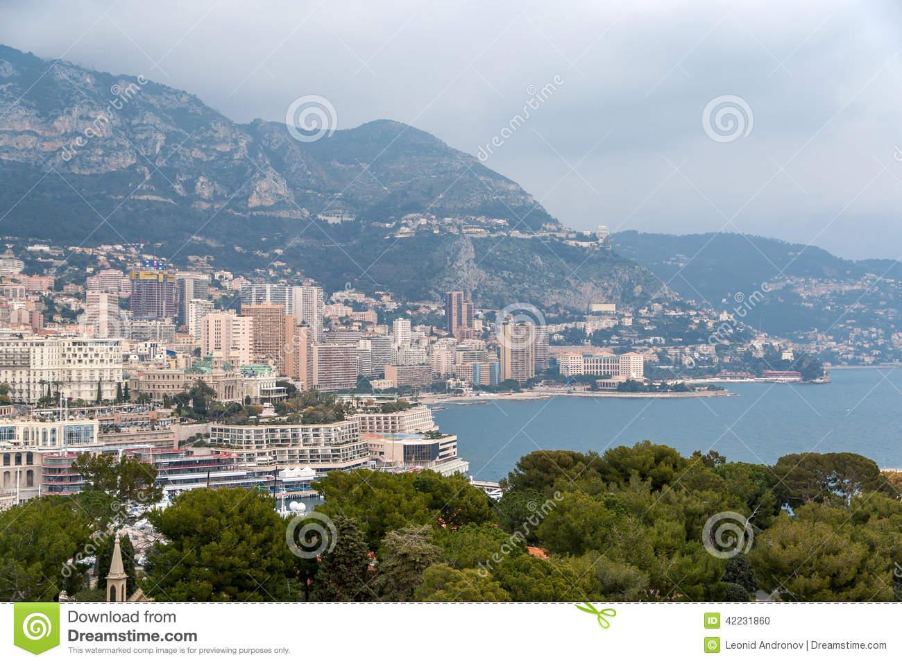 View Of Ligurian Alps In Monaco Stock Photo.