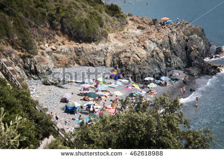 Liguria Mediterranean Beach Italy Stock Photos, Royalty.