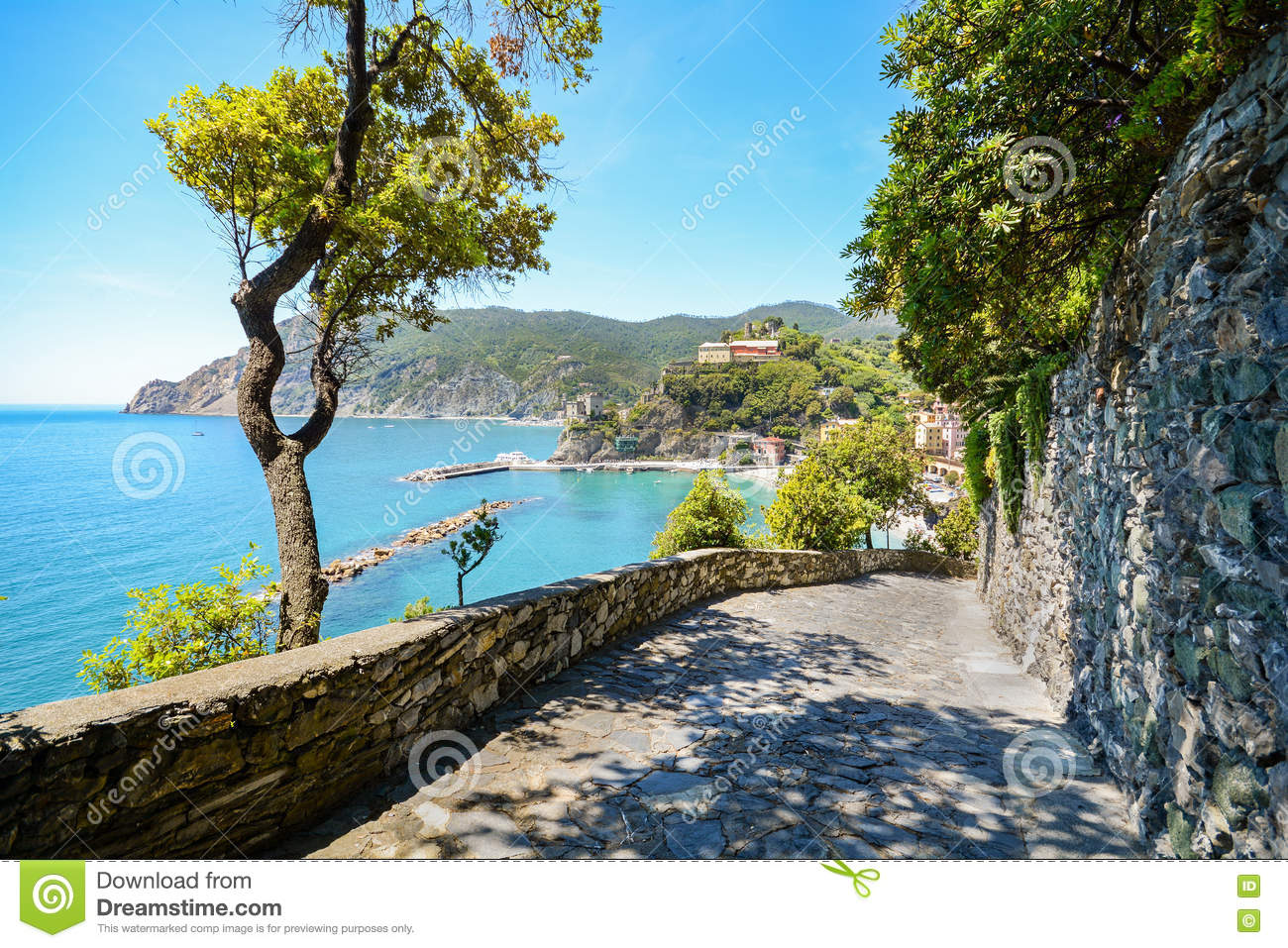 Cinque Terre: Hiking Trail To Monterosso Al Mare In Early Summer.