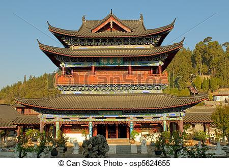 Stock Images of mu residence, lijiang old town, yunnan, china.