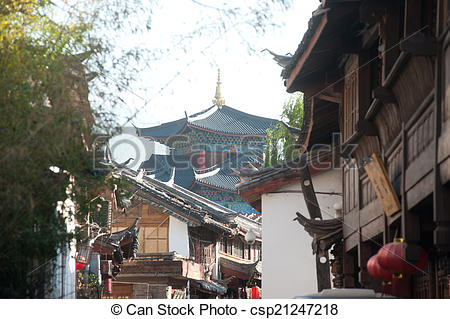 Stock Photography of Historic town of Lijiang,UNESCO World.