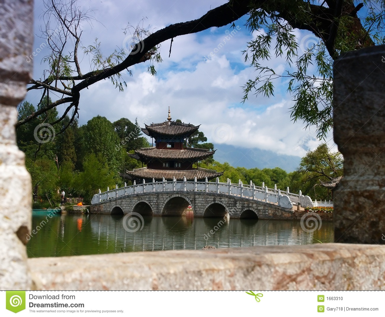 A Scenery Park In Lijiang China #4 Royalty Free Stock Image.
