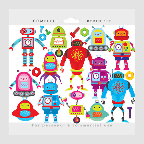 Robot clipart robots clip art gears nuts by WinchesterLambourne.
