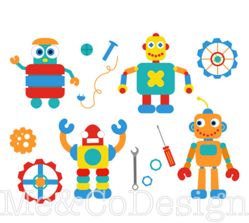 robotics clipart cutcaster photo 100361443 Happy #robot.