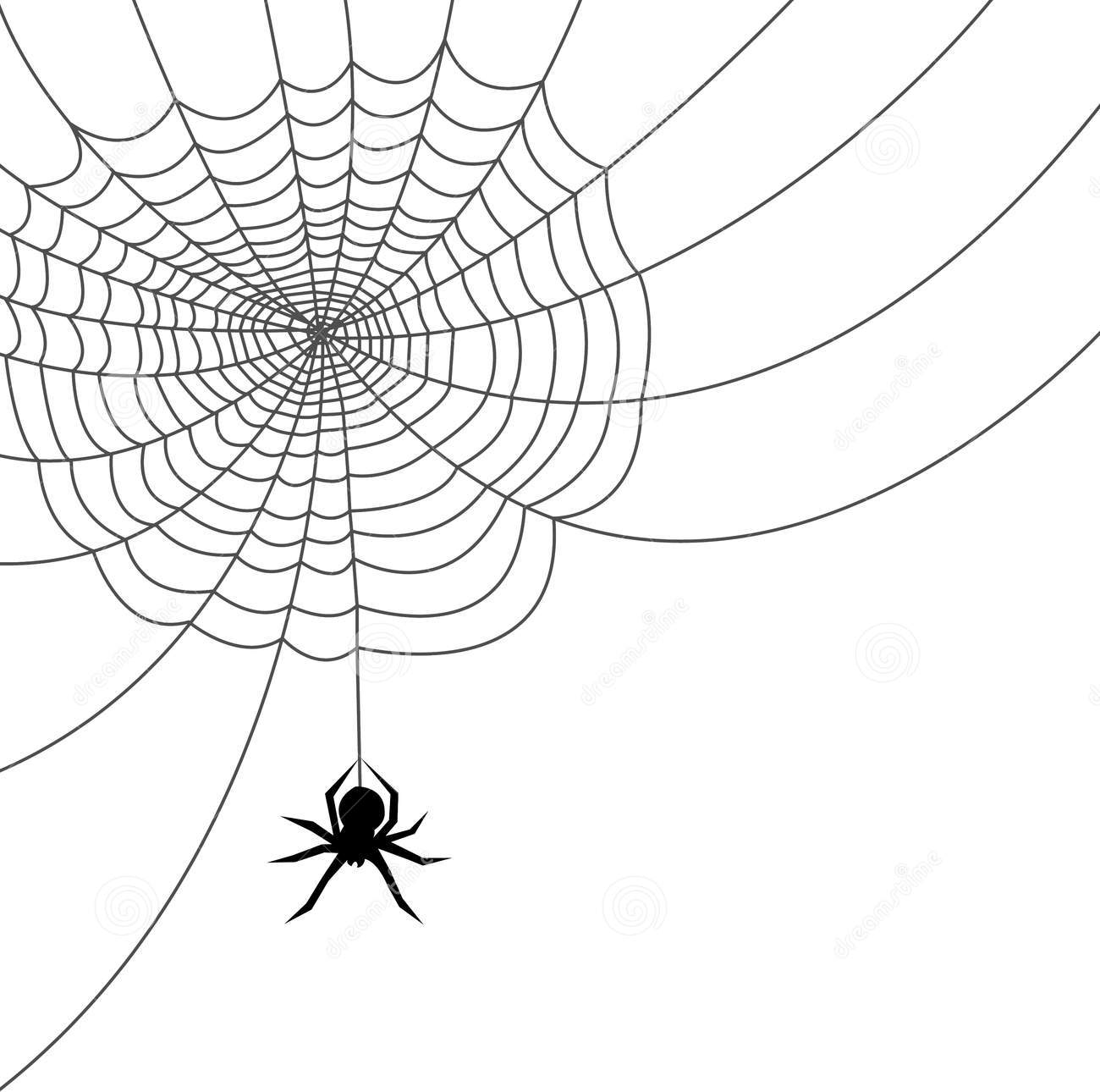 Spider spinning web clipart.