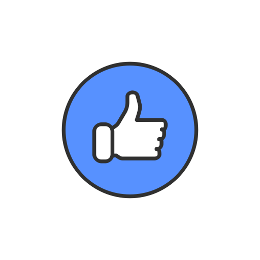 Emoji, facebook, like, like button icon.