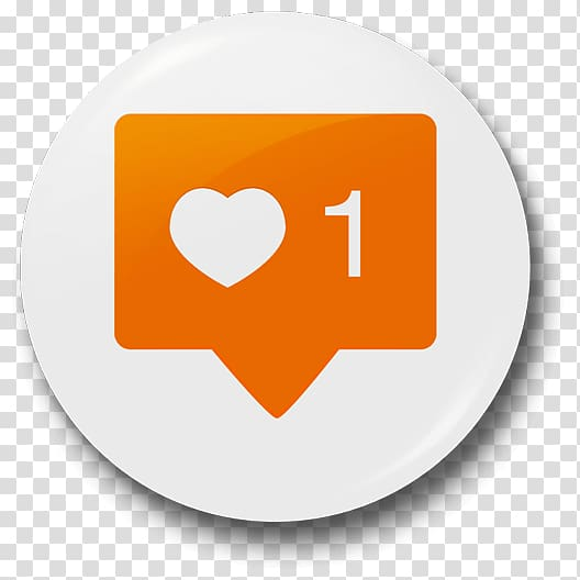 Heart and 1 icon , Instagram Social media Like button Badge.