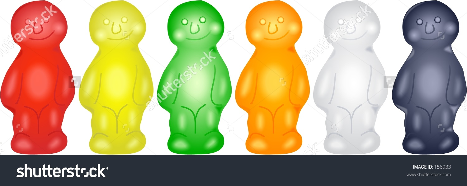 Jelly baby clipart.
