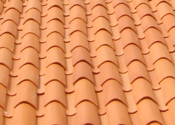 Clay Tile Roof. Clay Tile. A Large Mansion With Classic And A Clay.