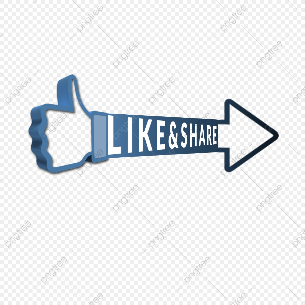 Free Facebook Like Share Icon 3d Button, Social, Like, Share.