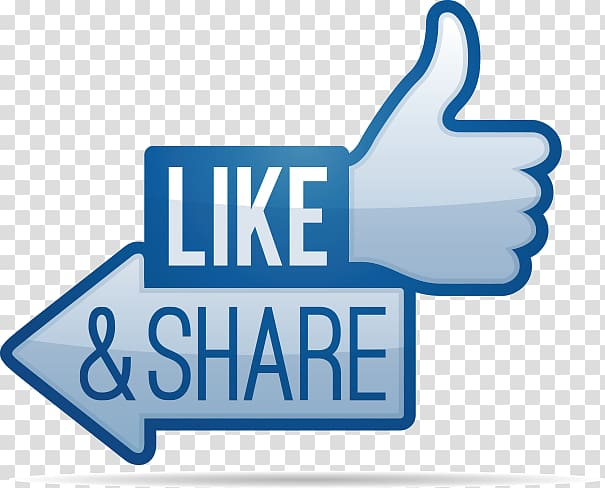Like and share illustration, Facebook like button Share icon.