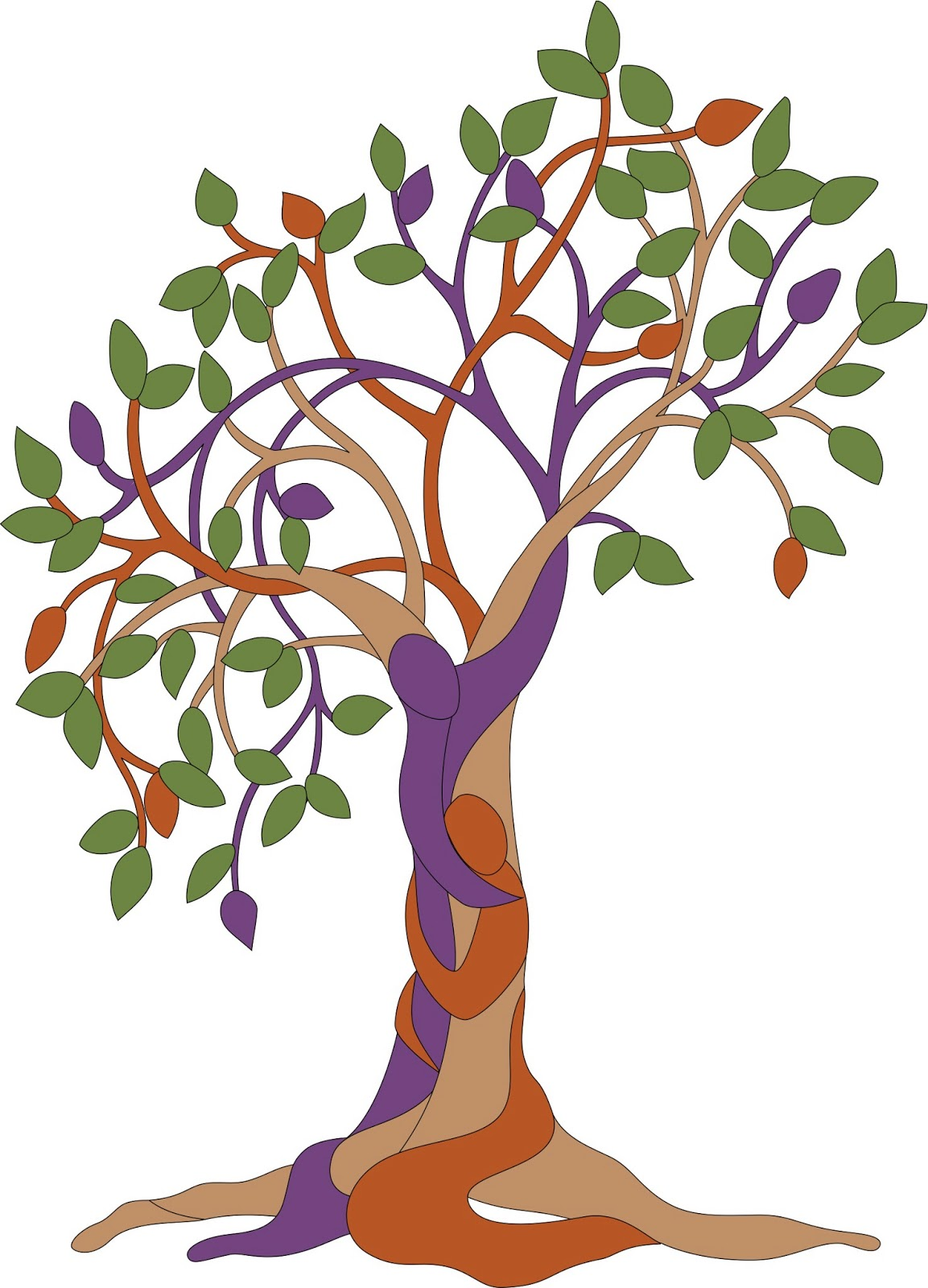 Vine on tree clipart.