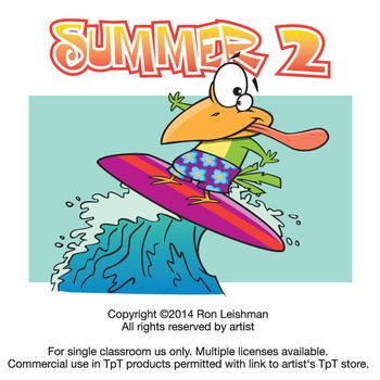 Summer Cartoon Clipart Vol. 2.