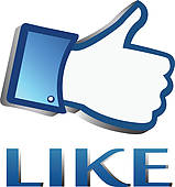 Clipart of Facebook like it thumb up button k14037204.