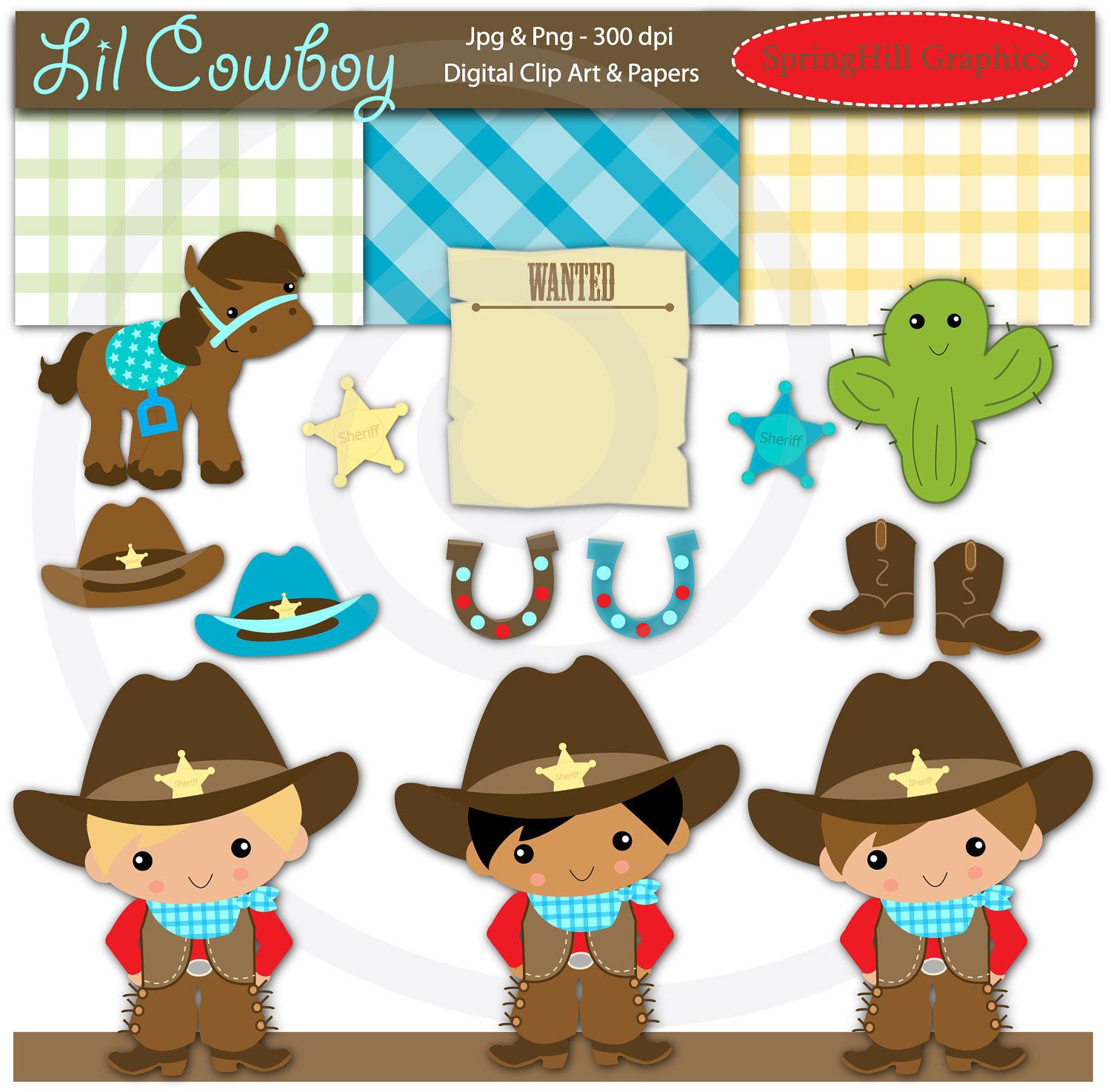 Western Baby Clipart.