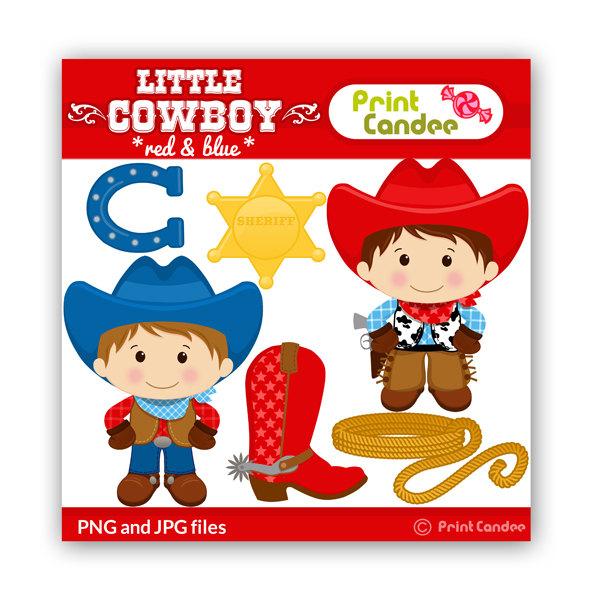Little Cowboy Clipart.