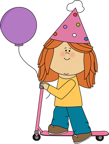 Lil girl with balloons clipart.