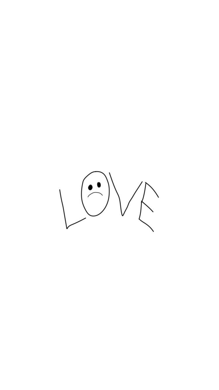 "Lil peep tattoo ""LOVE"",wallpaper iPhone 6 Plus/7 plus/8 plus."