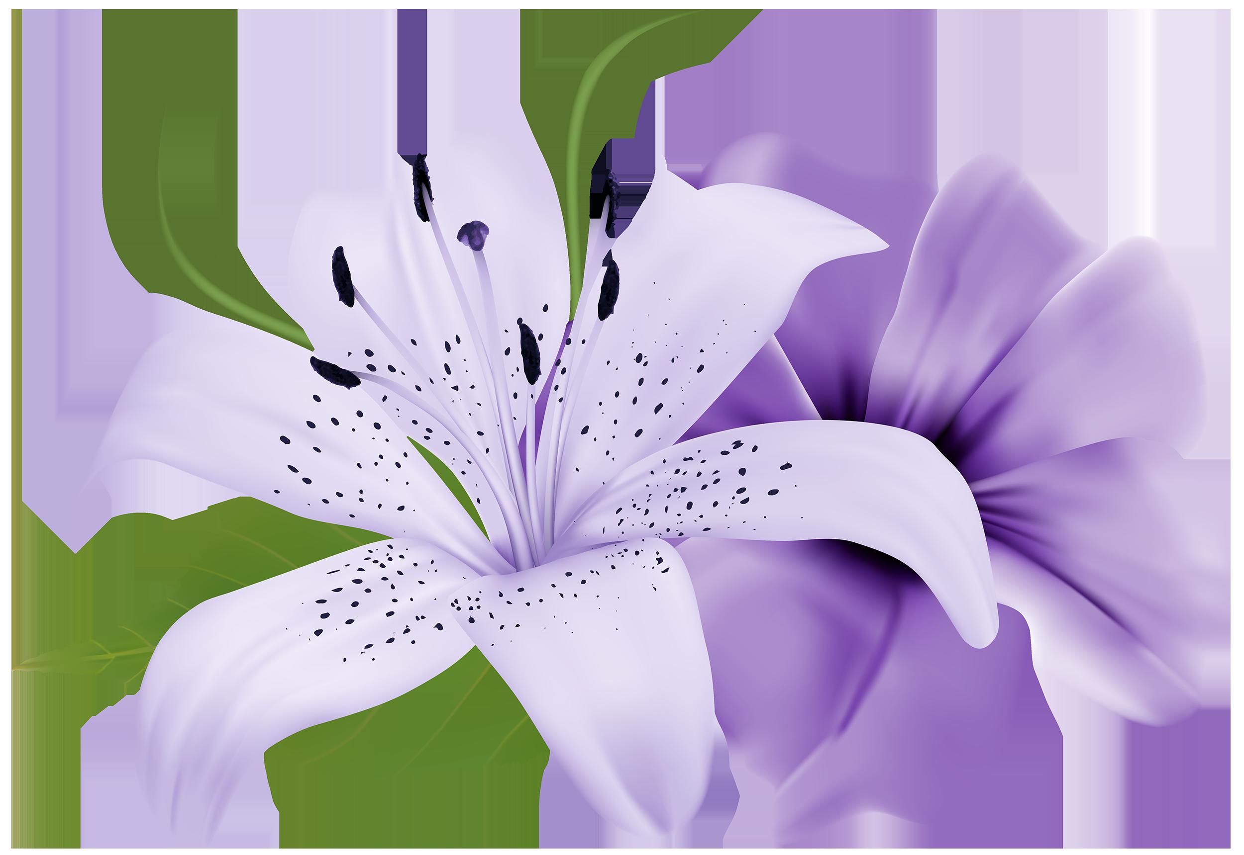 Purple Deco Flowers PNG Clipart.