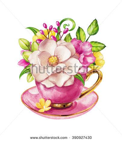 Flower Tea Stock Photos, Royalty.