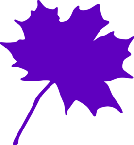 Purple Leaf Clip Art at Clker.com.