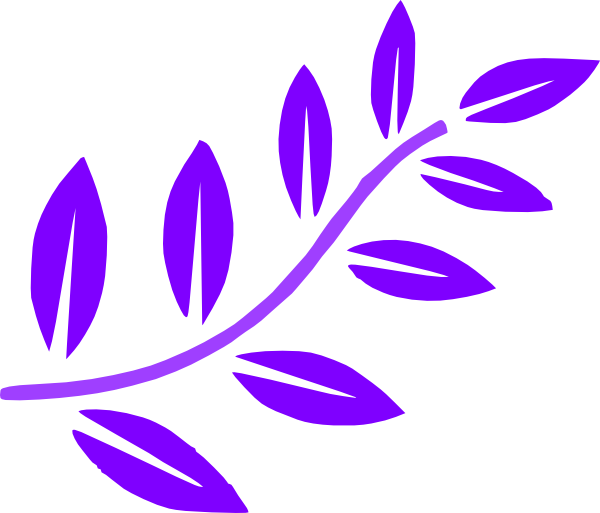 Purple Leaves Branch Clip Art at Clker.com.