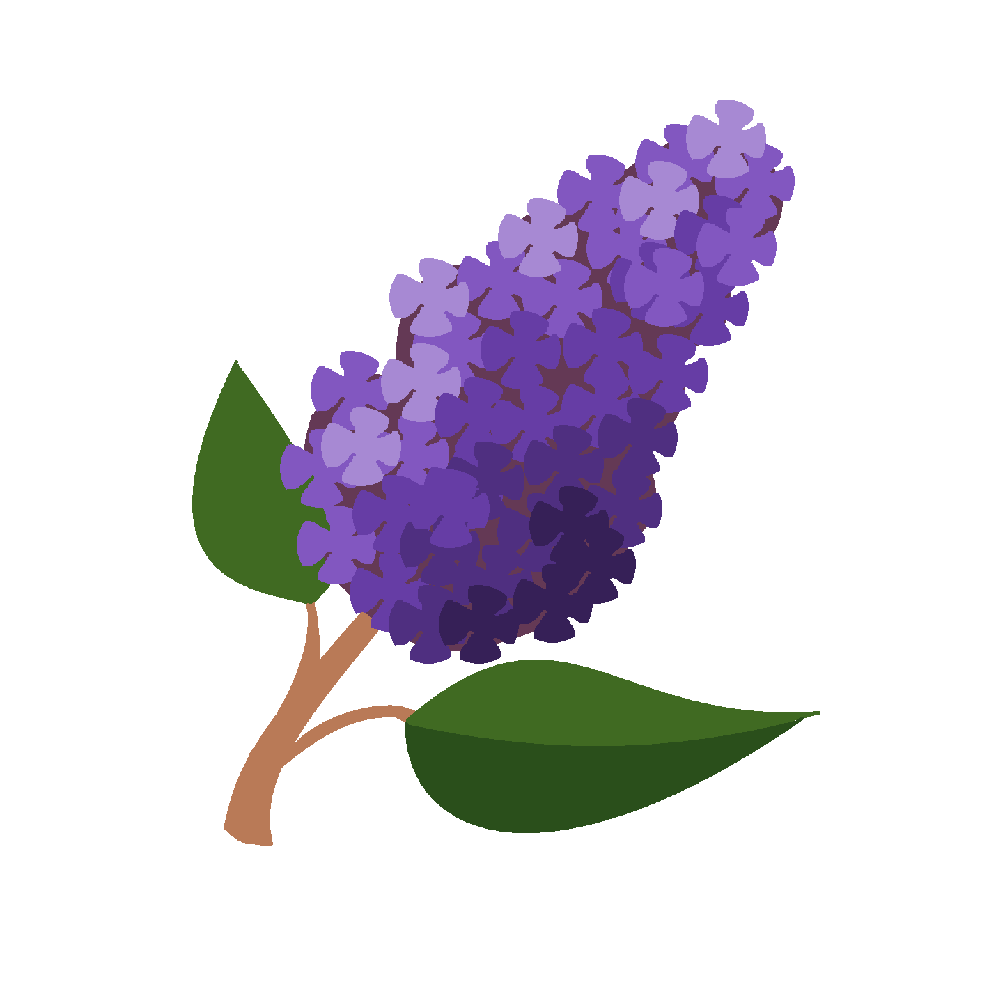 Lilac Tree Clipart.