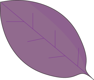 Purple Autumn Leaf Clip Art.