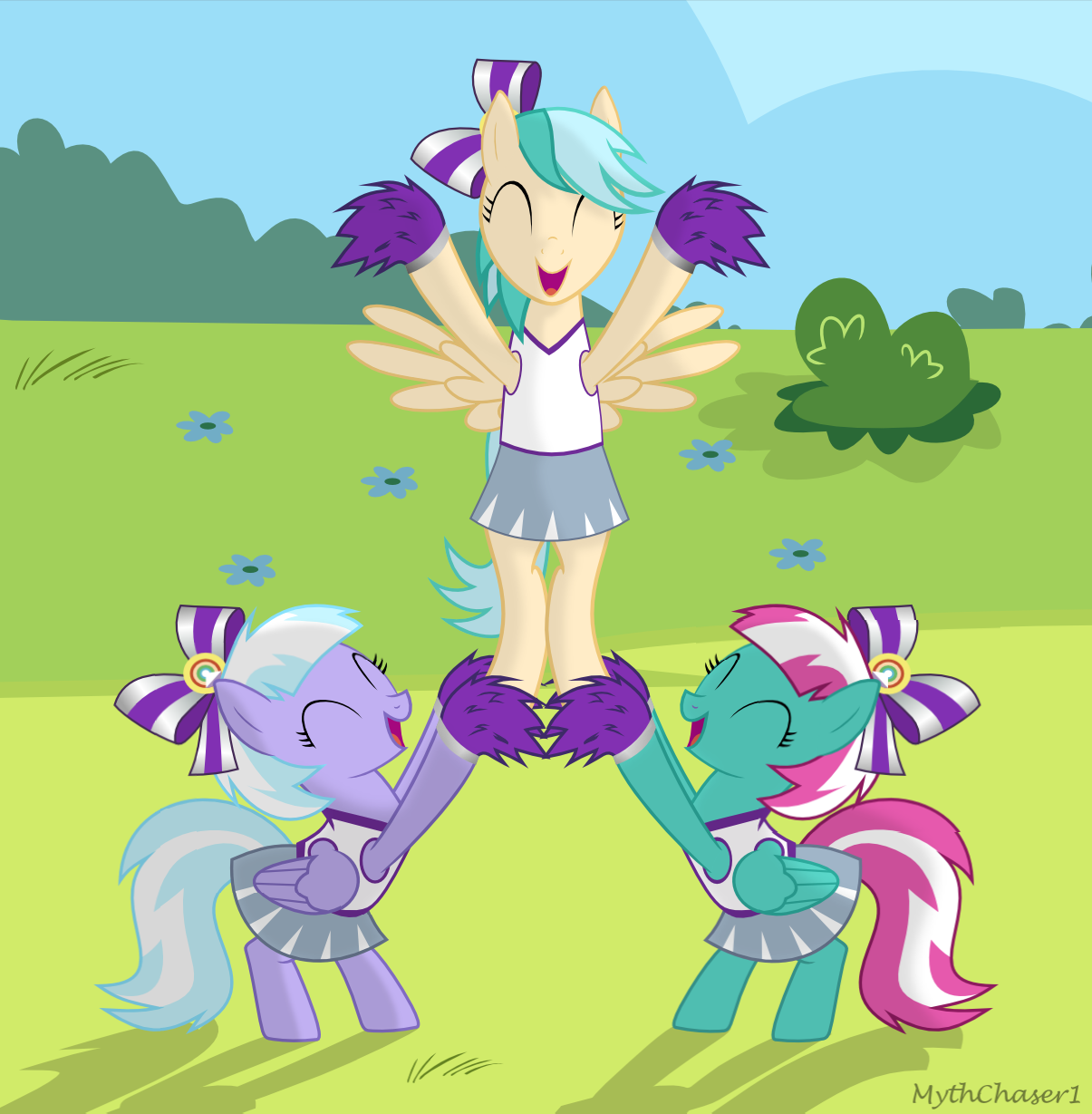 Sunlight Spring, Lilac Sky, and Sky Leaper by MythChaser1 on.