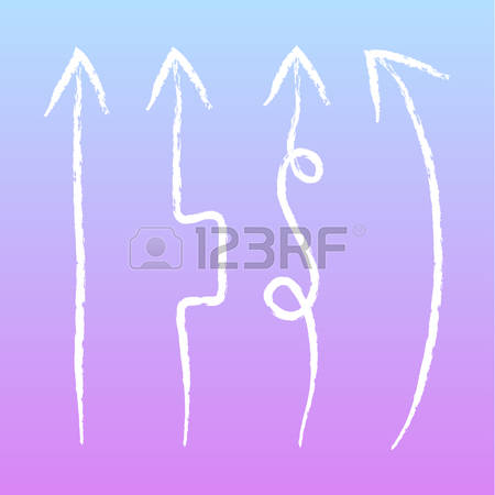 Hand Drawn Arrow And Spear Clipart.