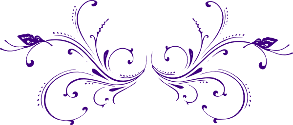 Butterfly scroll clipart.