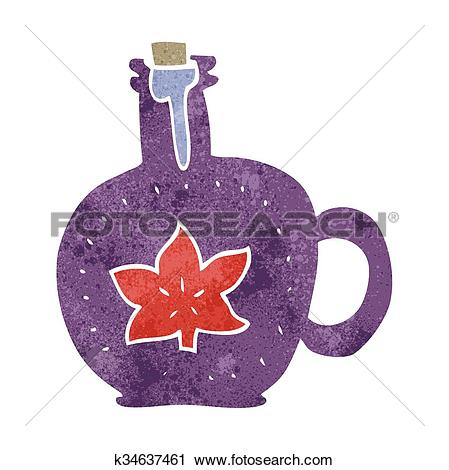 Clipart of retro cartoon maple syrup k34637461.