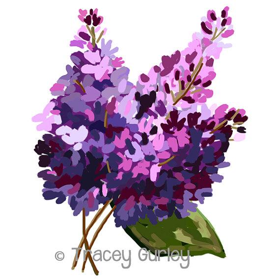 Lilacs Original Art lilac clip art lilac painting.