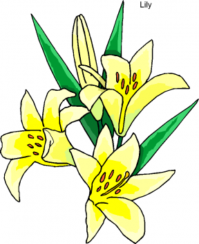 Easter Lilies Clipart.