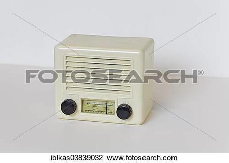 """Stock Photo of """"Jotha Radio, model Liliput 111W, MW miniature."""