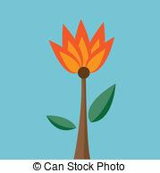 Lilium bulbiferum Vector Clip Art EPS Images. 2 Lilium bulbiferum.