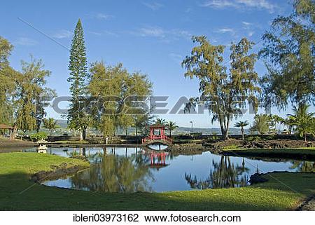 "Stock Photo of ""Liliuokalani Park and Gardens, Hilo, Big Island."