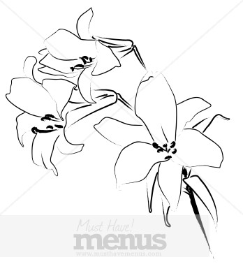 Lilies Clip Art and Menu Graphics.
