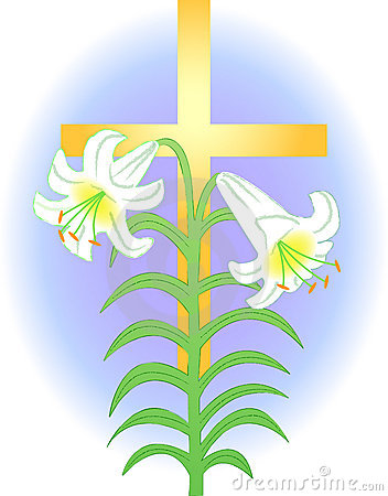 Easter lilies clipart religious.