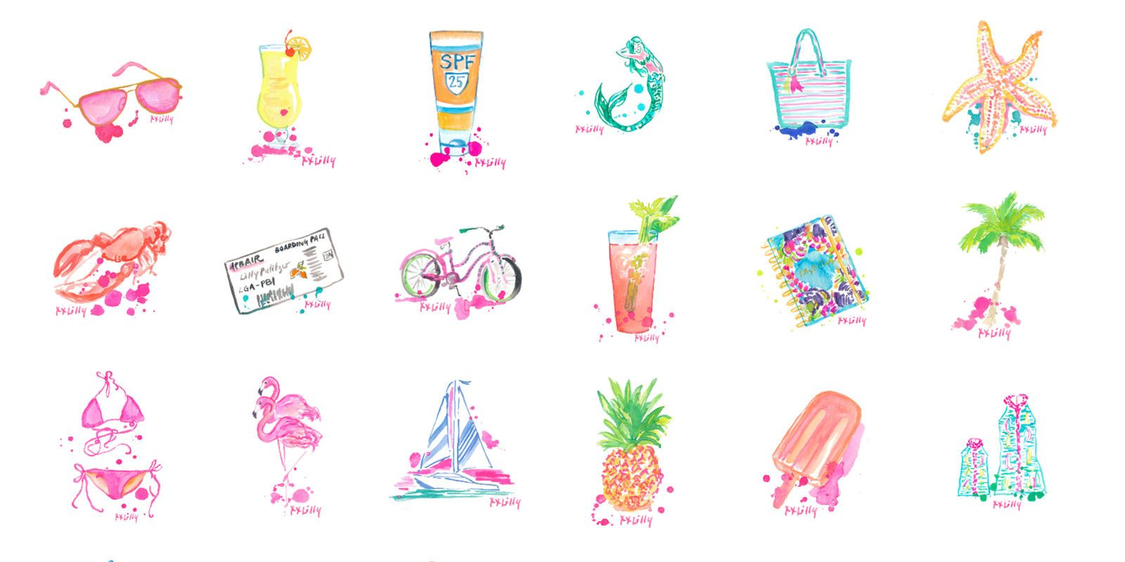 The New Lilly Pulitzer Emojis Are Finally Here!.