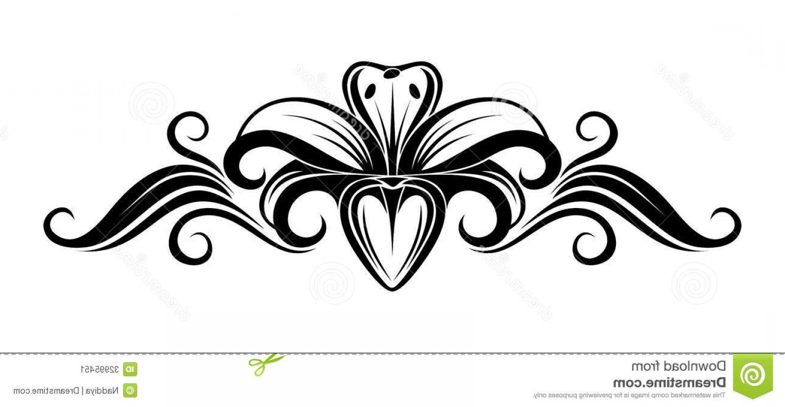 Lily Flower Clipart Black And White.