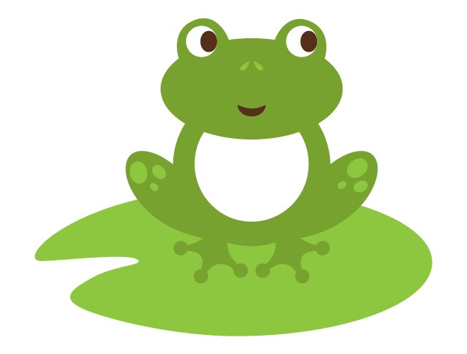 Frog On Lily Pad Clipart.