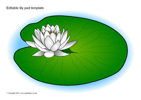 Editable lily pad template (SB8458).