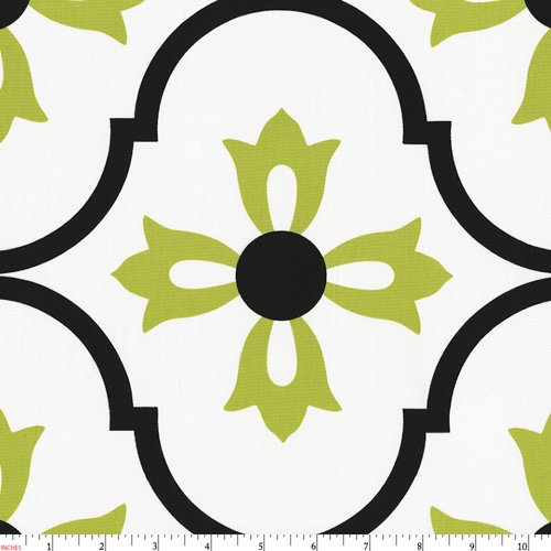 Lime Blossom Fabric by the Yard.