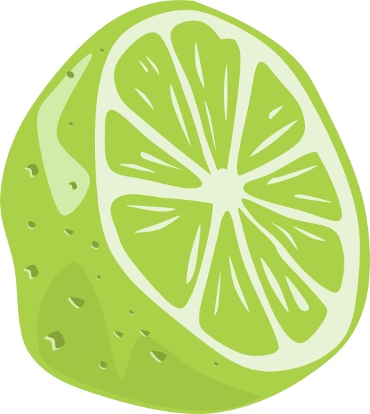 Half Lime clip art Free vector in Open office drawing svg.