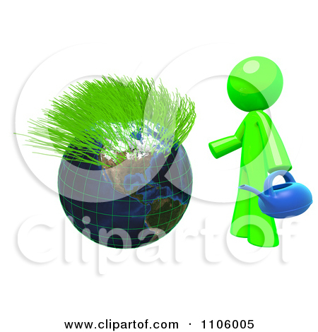 Environmental Clipart Illustration Image of a Green Ball Grass.