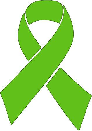 Barking Sand Designs Lime Green Lymphoma Cancer Ribbon Awareness Die Cut  Vinyl Window Decal/Sticker for Car/Truck.