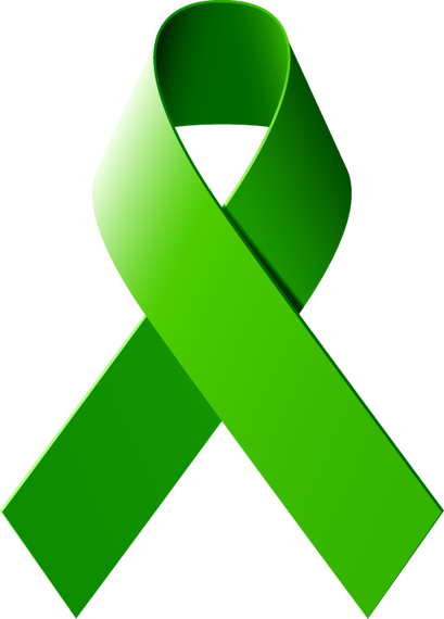 Lime Green Cancer Ribbon.
