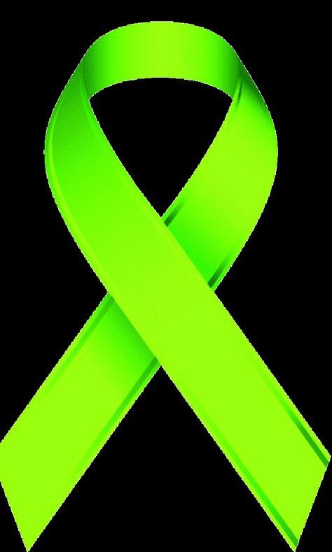 Lime Green Awareness Ribbon.