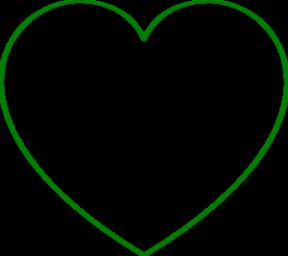Lime Green Heart Clip Art.